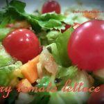 Cherry tomato lettuce salad