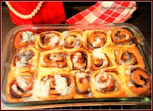 Cinnamon rolls for Christmas dinner, New Year Party