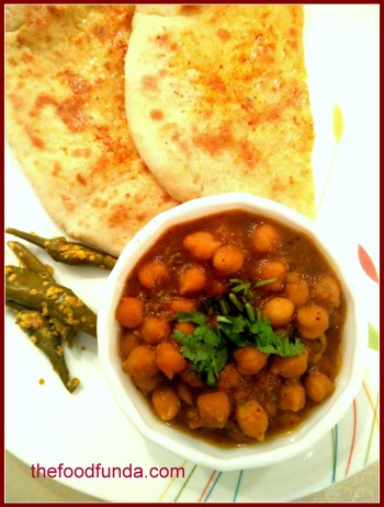 chana masala with kulche