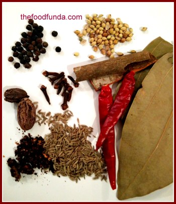 spices for chana masala recipe