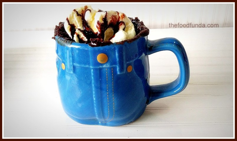 Nutella chocolate mug cake in 2 minutes