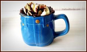 Nutella chocolate mug cake in 2 minutes