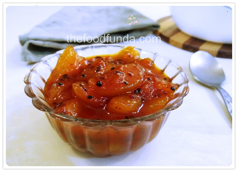 Aam ki launji with jaggery | Instant sweet and sour mango pickle