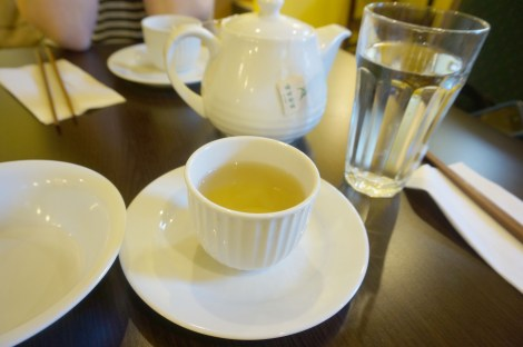 A cup of tea at Kee Heong Cantonese Bakery