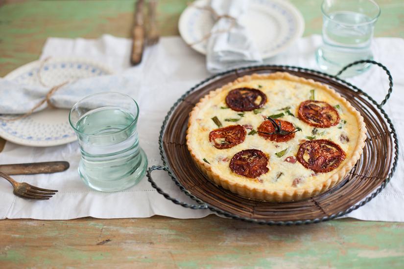 Prosciutto, Asparagus, Fontina Quiche-9 WEB