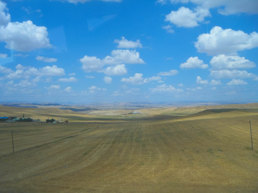 On the way to the dig — the Anatolian planes of central Turkey are a wealth of rolling hills and archaeological digs.