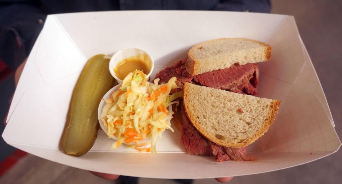 NoshFest Saul's Corned Beef Sandwich.