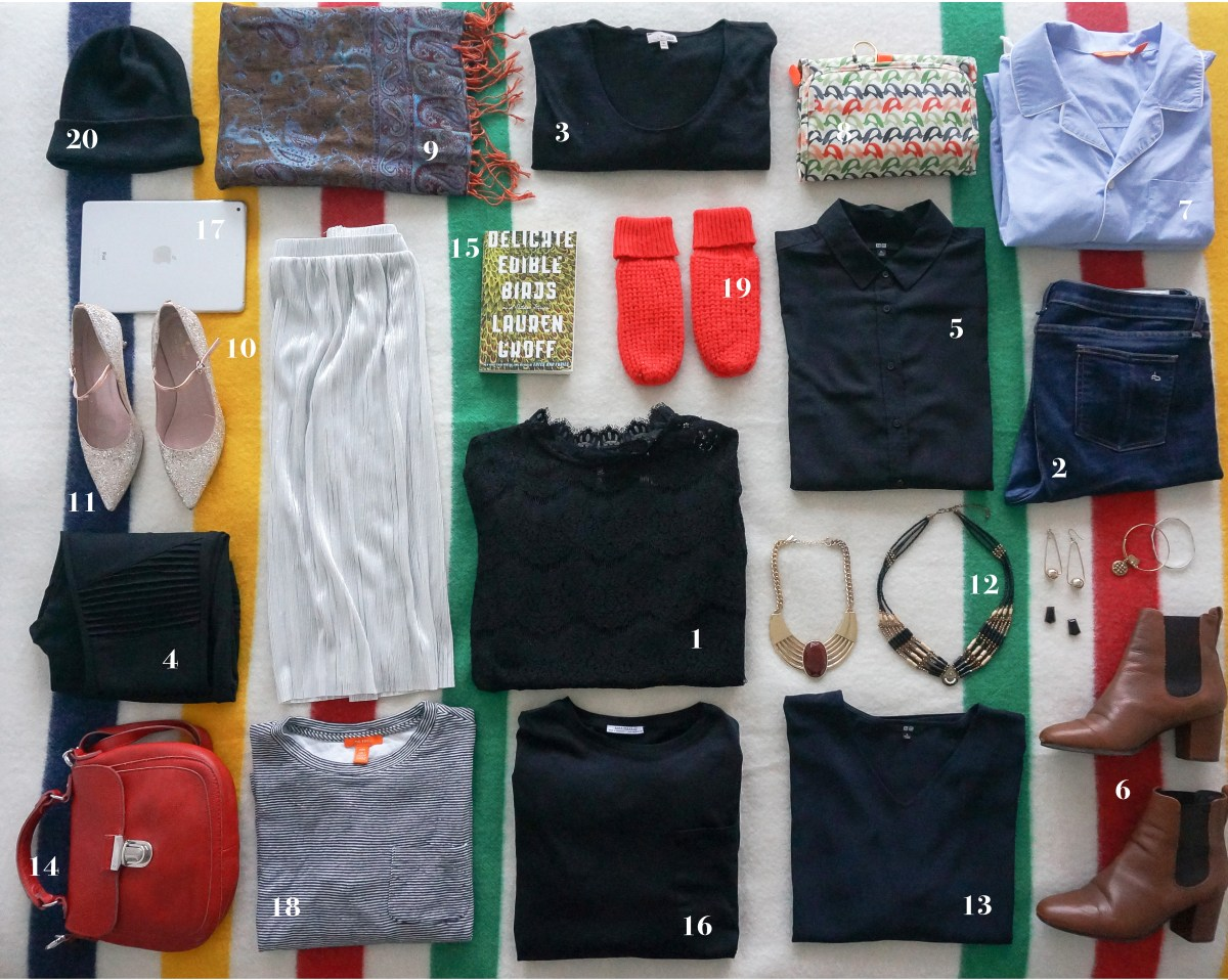 How to pack a carry-on for christmas outfits by number