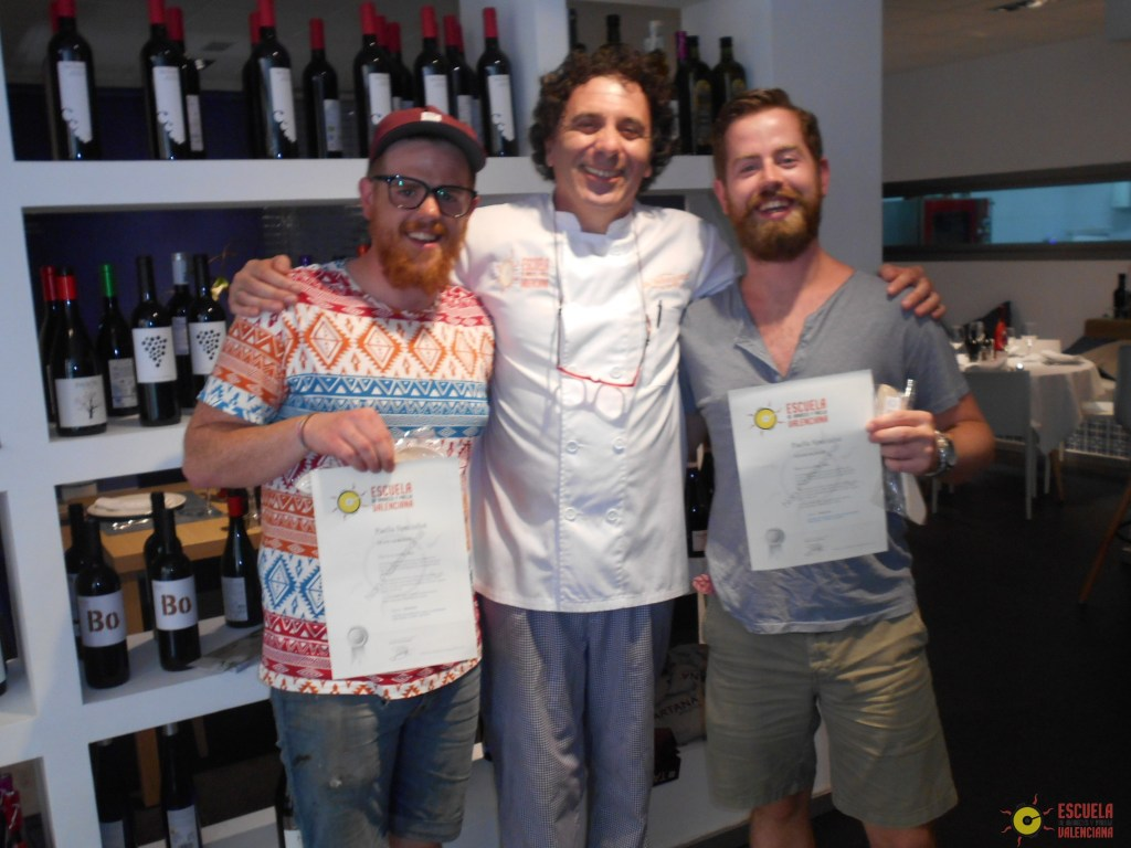 Adam and Sean with Chef