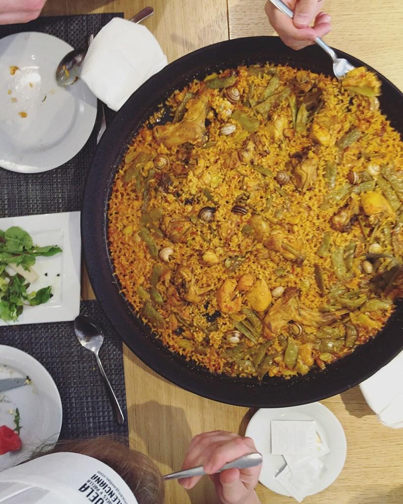 Paella at the Escuela de Arroces y Paella Valenciana