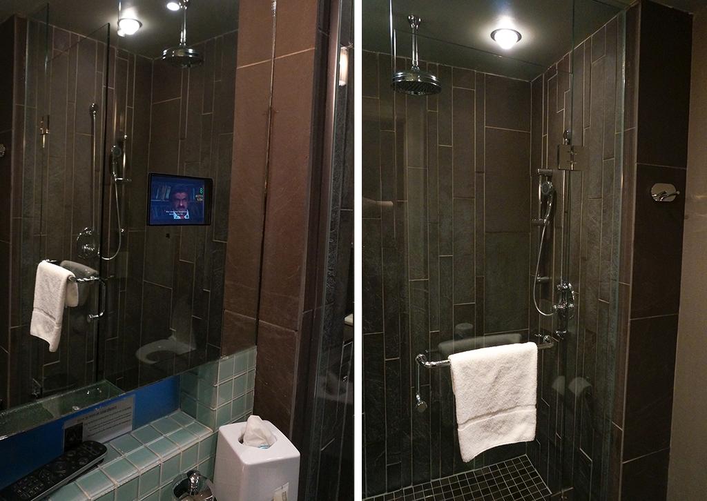 Bathroom collage at the Shaw Club