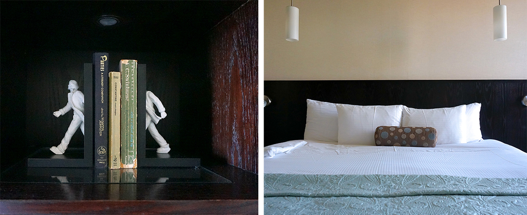 Bedroom details at the Shaw Club