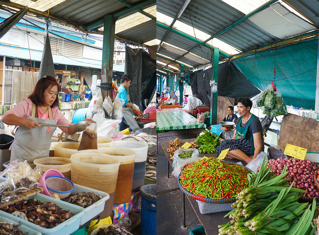 Market Collage Klong Toey Slum Bangkok