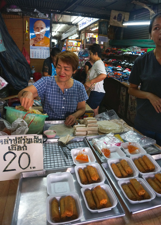 Spring Rolls Klong Toey Slum Bangkok