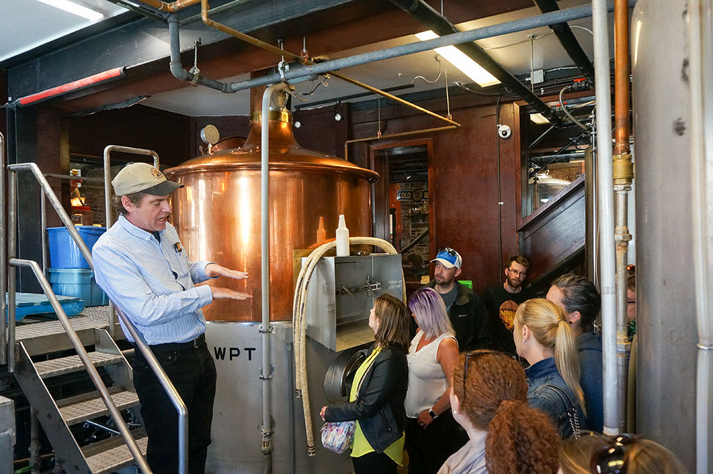 St. John's Beer Tours inside Yellowbelly Brewery