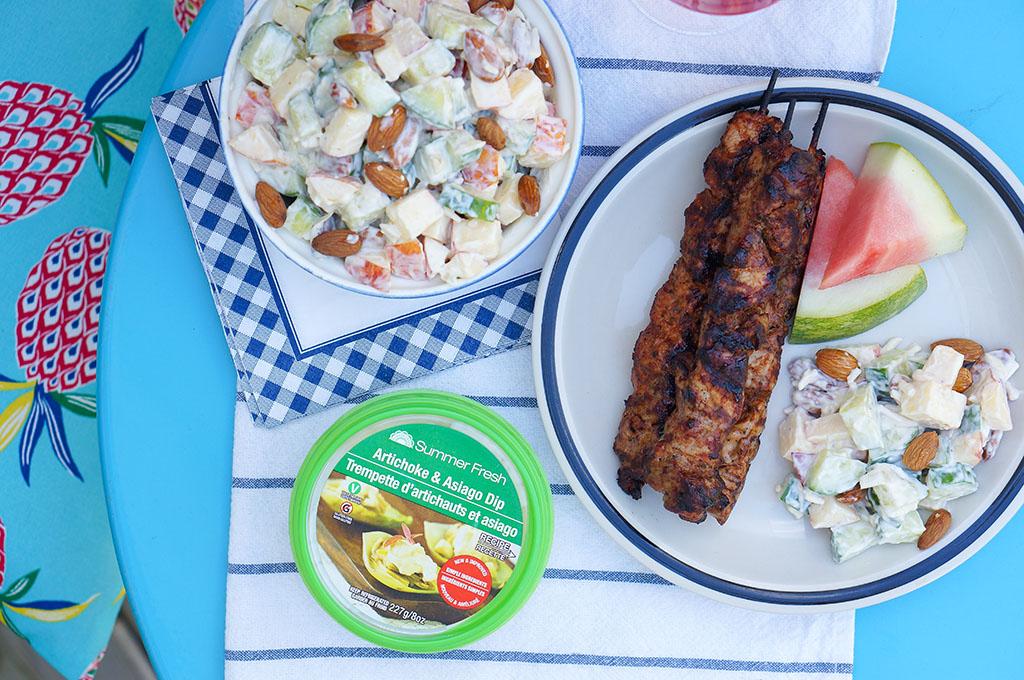 Summer Fresh Salad Overhead