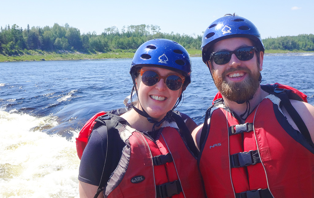 Rafting Newfoundland and Gabby.TheFoodGirlinTown