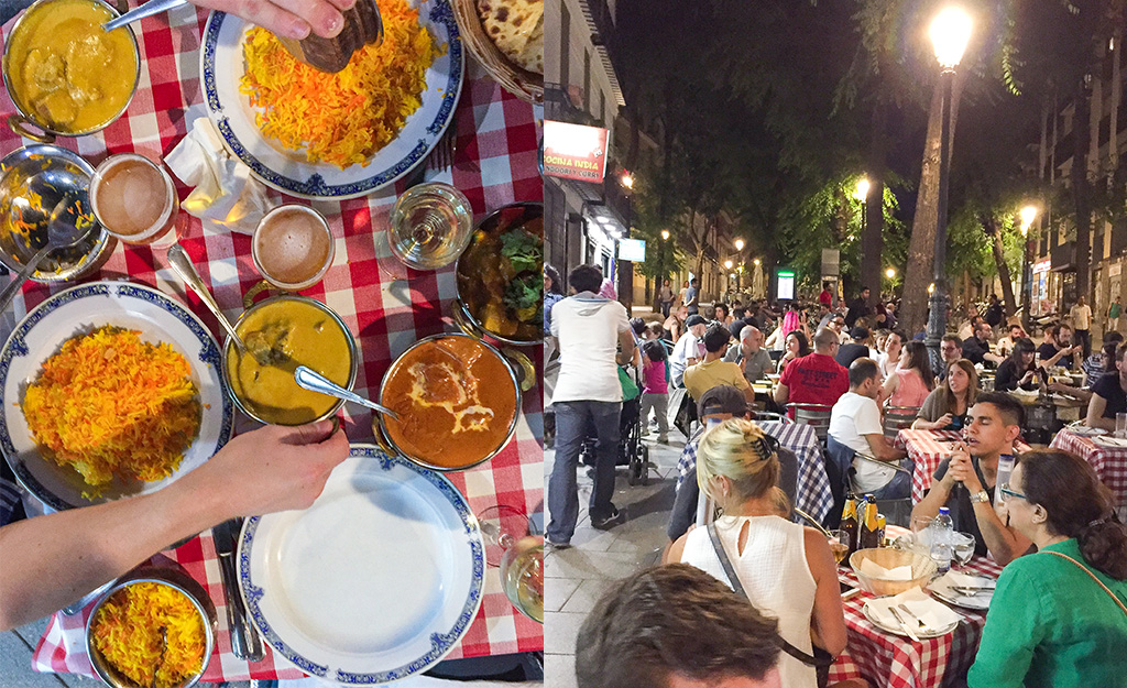 The Food Girl in Town.Indian Food 24 Hours of Eating in Madrid