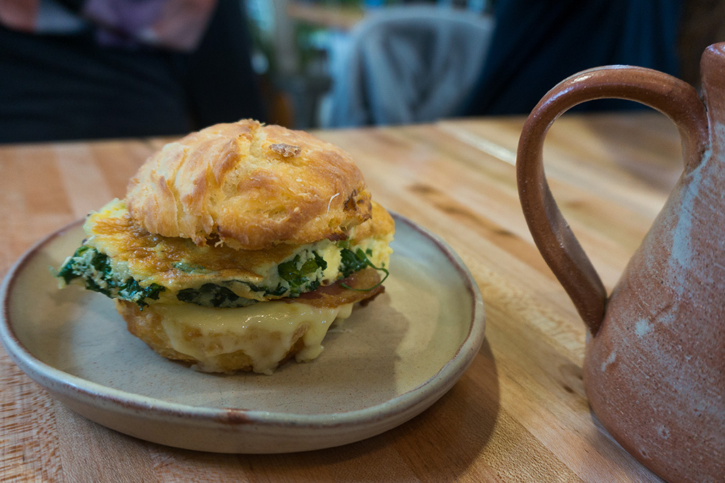 The Grounds Cafe Spinach Egg Breakfast Sandwich The Food Girl in Town