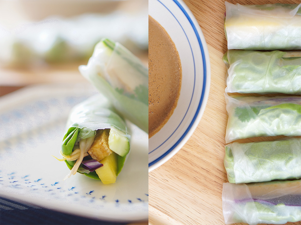Vegetarian Vietnam The Food Girl in Town Cucumber Pineapple Rolls Collage
