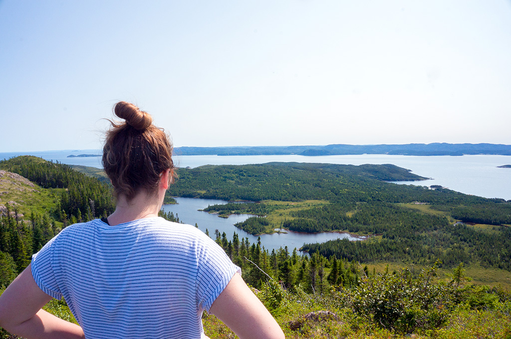 Looking out over Chipps Hill Glamping in Newfoundland