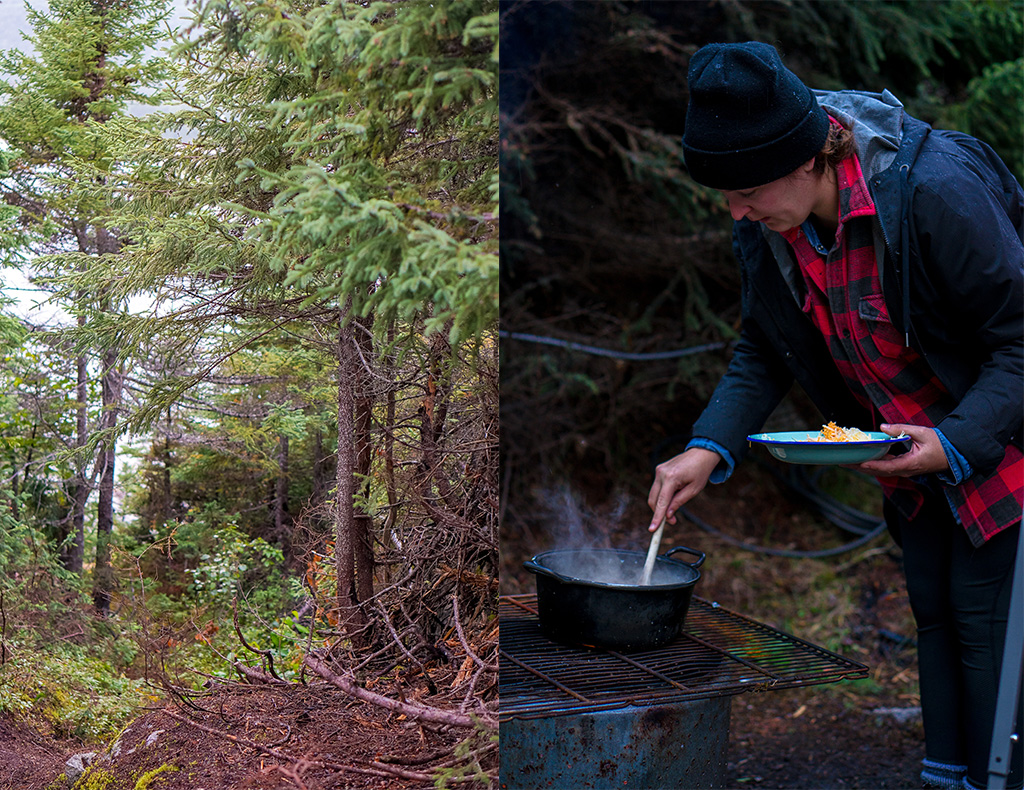 Glamping in Newfoundland Cooking Campire Style