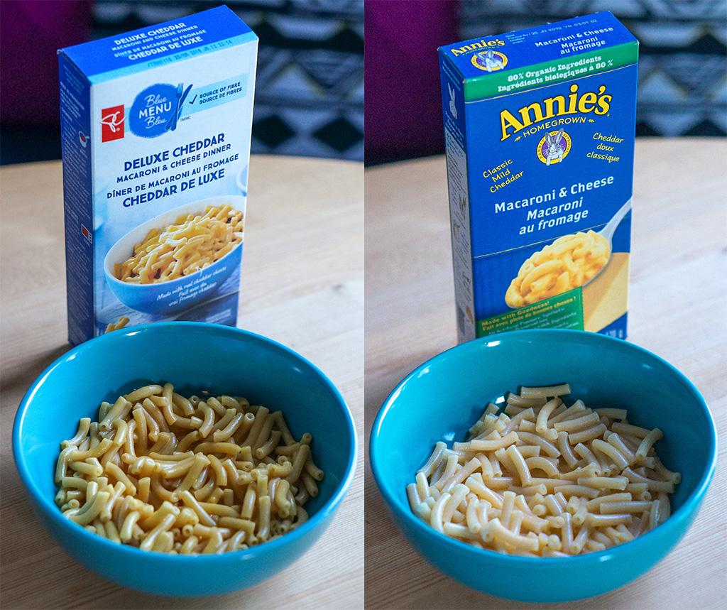 Blue Menu VS Annies Organic