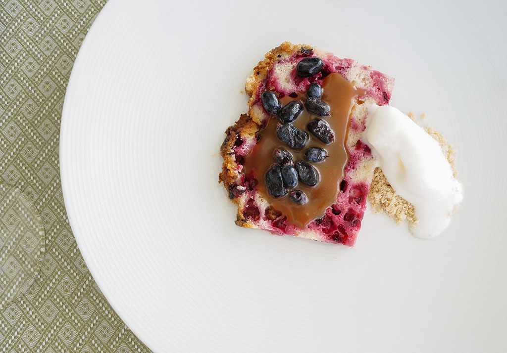 Fogo Island Inn blueberry dessert.The Food Girl in Town