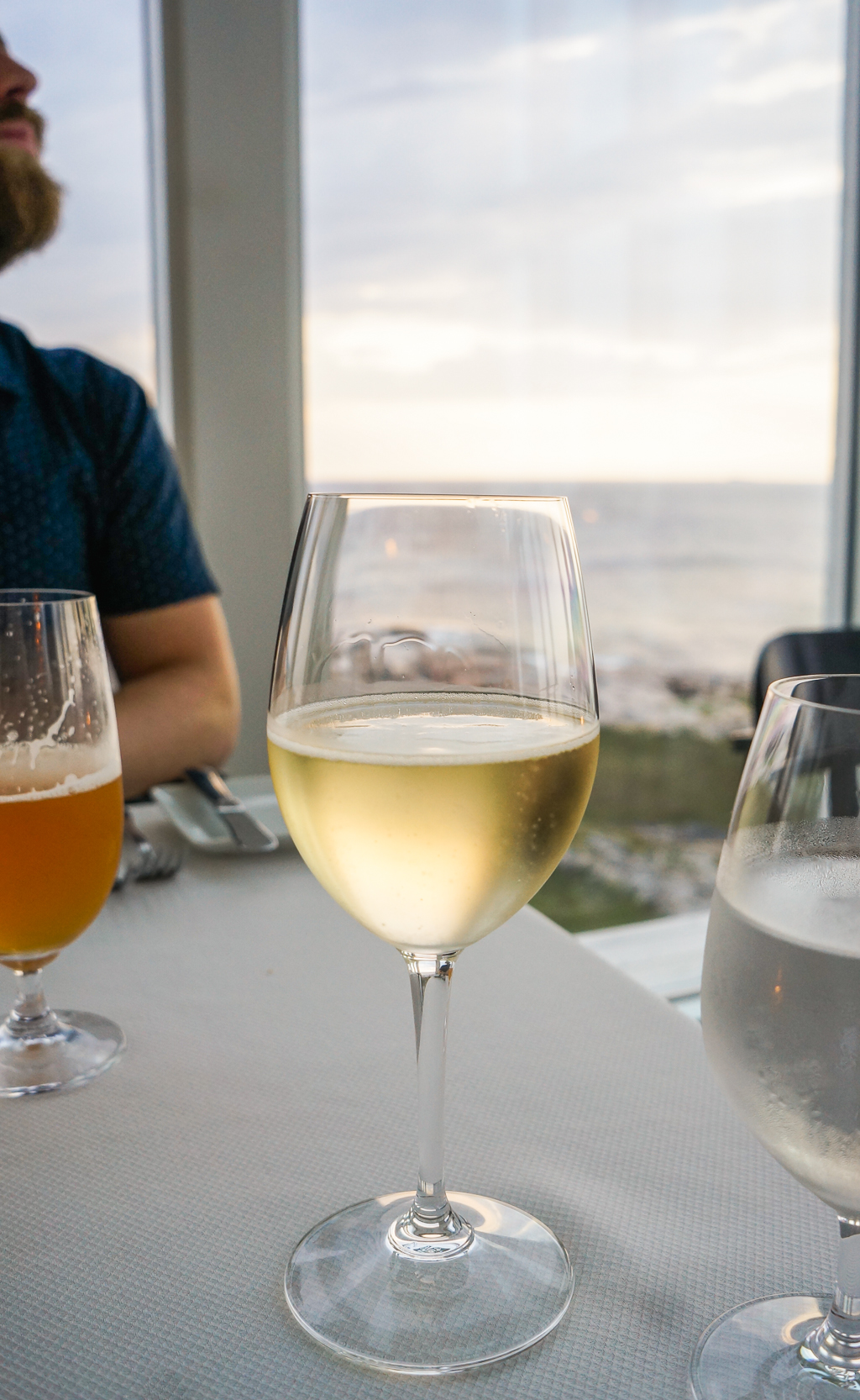 Wine Glass dining at the Fogo Island Inn