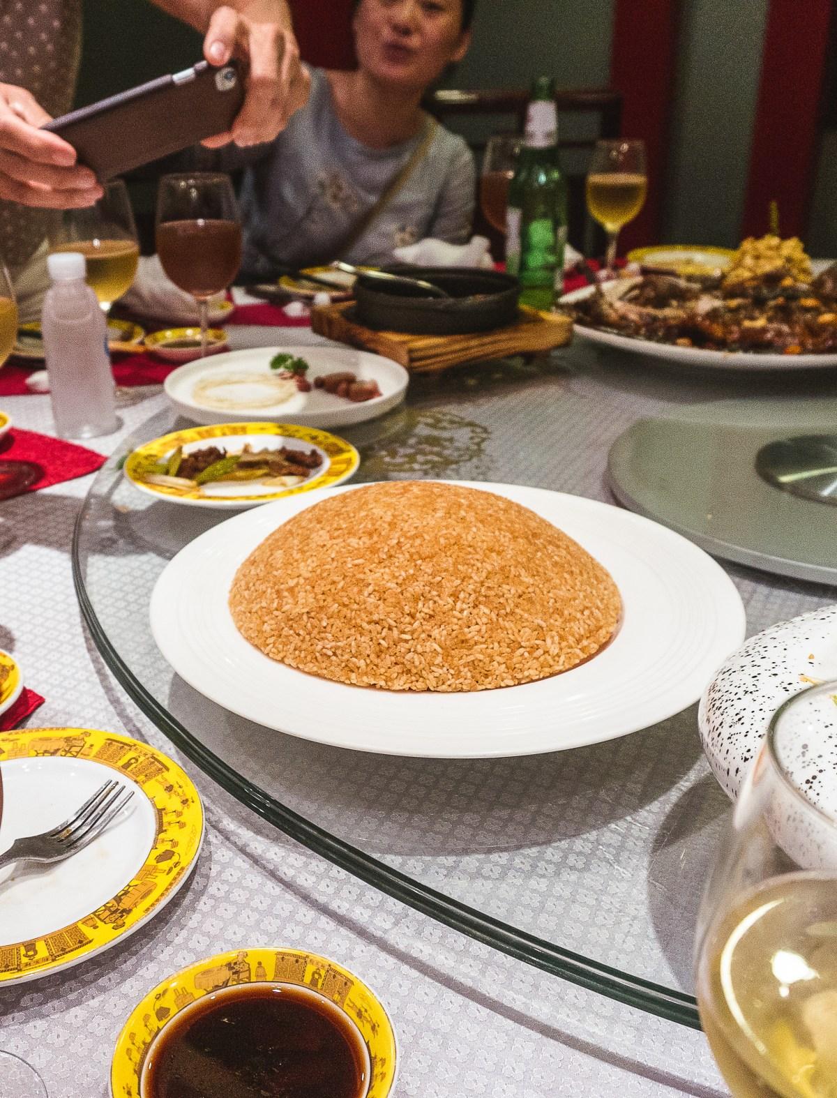 rice dish at Goubuli Restaurant