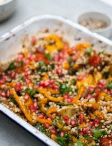 Recipe: Mediterranean Veggie Tray Bake