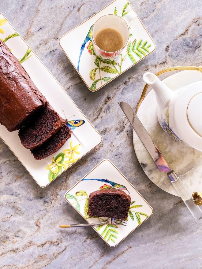 ultimate dark chocolate loaf cake
