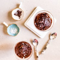 Vegan Recipes:  Healthy(ish) Dark Chocolate Pudding