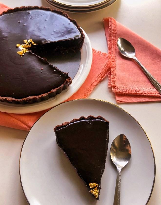 no bake nutella tart