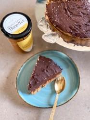 No Bake Dark Chocolate Banoffee Tart
