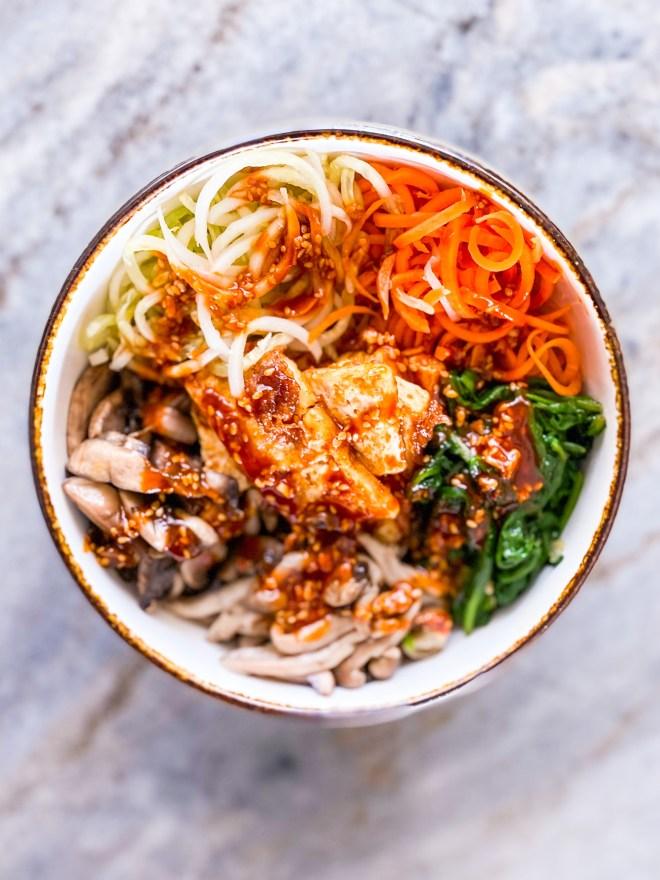 Vegetarian Bibimbap Bowl
