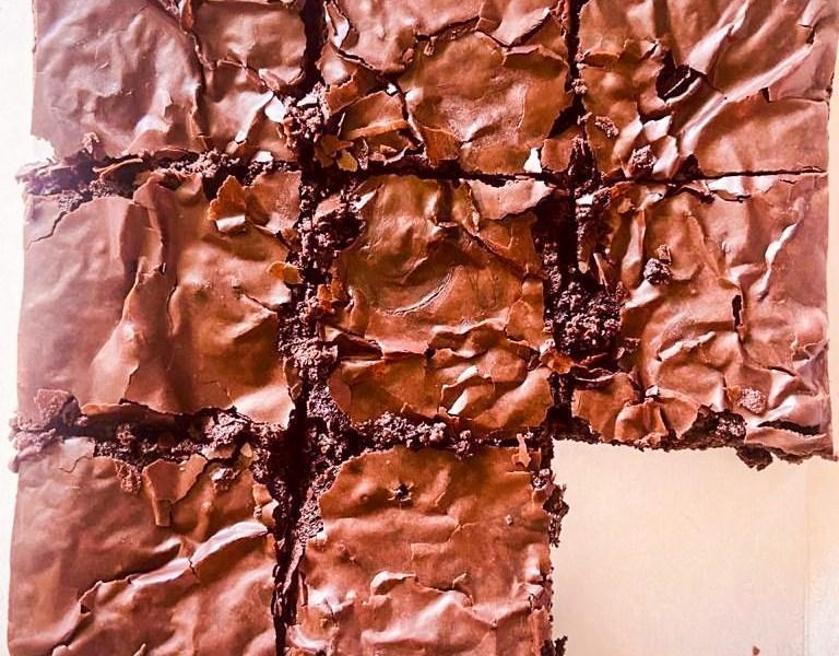 eggless crinkle top brownies