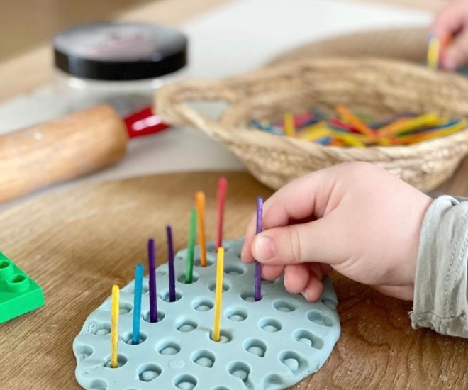 play-based learning with play dough
