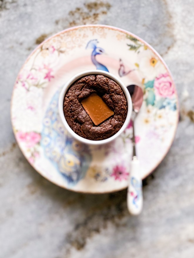 eggless molten brownie pudding