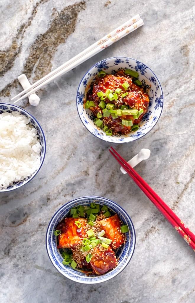 spicy Korean tofu