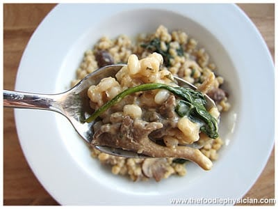 Dining with the Doc: Mushroom Barley Risotto