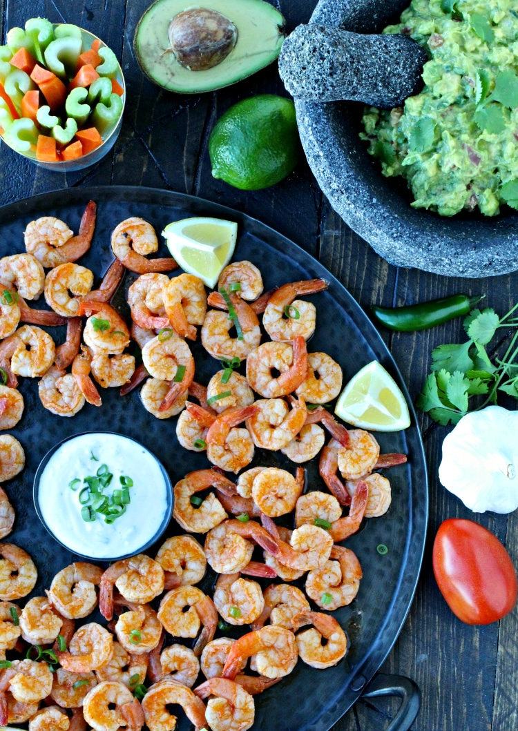 Game Day Snacks- Grilled Buffalo Shrimp | @foodiephysician