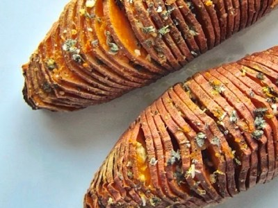 Dining with the Doc: Hasselback Sweet Potatoes