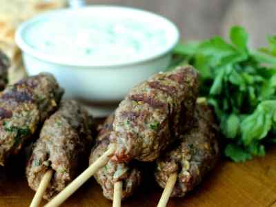 Dining with the Doc: Beef Kofta Kebabs with Tzatziki Sauce