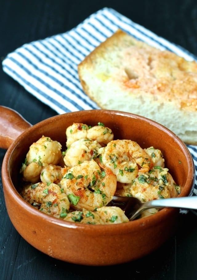Spanish Garlic Shrimp - Mediterranean diet recipes