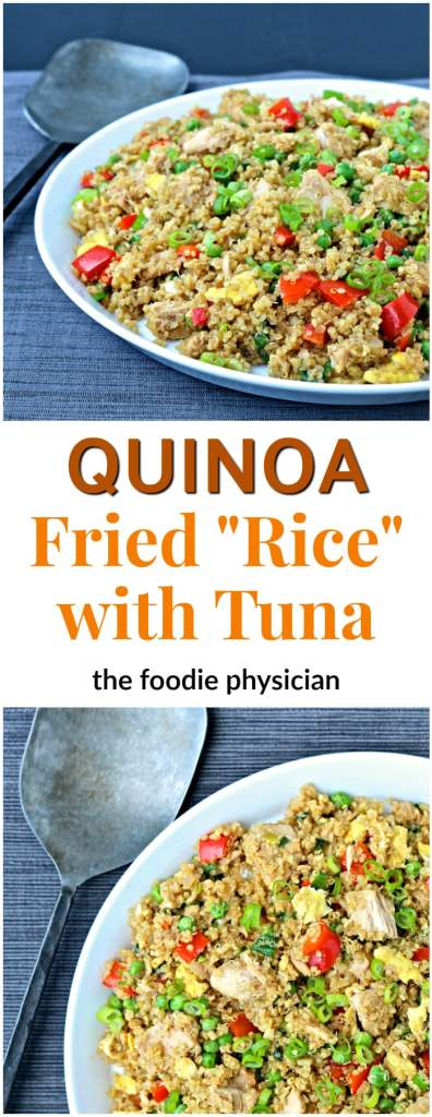 """Quinoa Fried """"Rice"""" with Tuna 