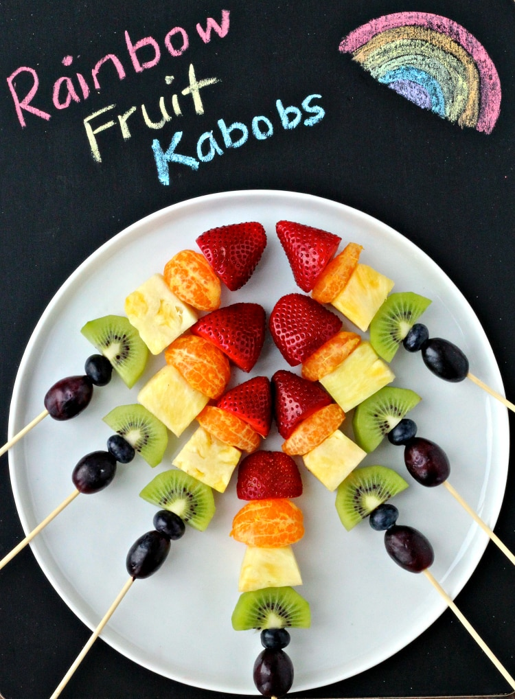 Preventing Childhood Obesity: Fruit Kabobs | @foodiephysician