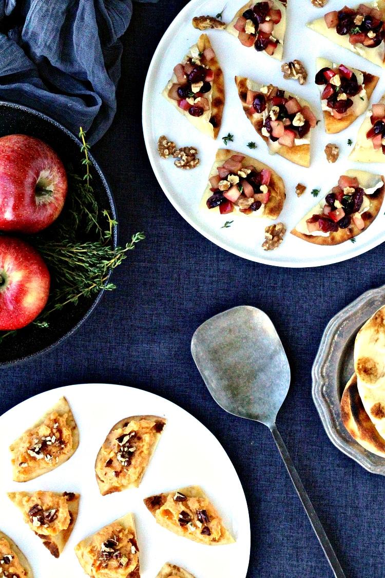 Holiday Naan Crostini   @foodiephysician
