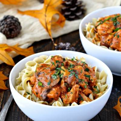 Chicken with Creamy Paprika Sauce