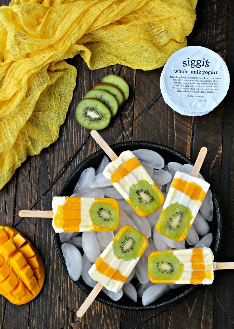 Tropical Sunshine Popsicles | @thefoodiephysician